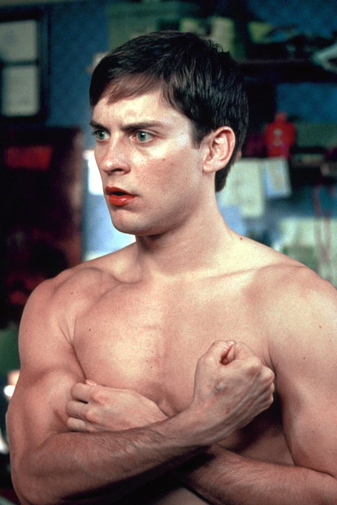 Barechested Tobey Maguire
