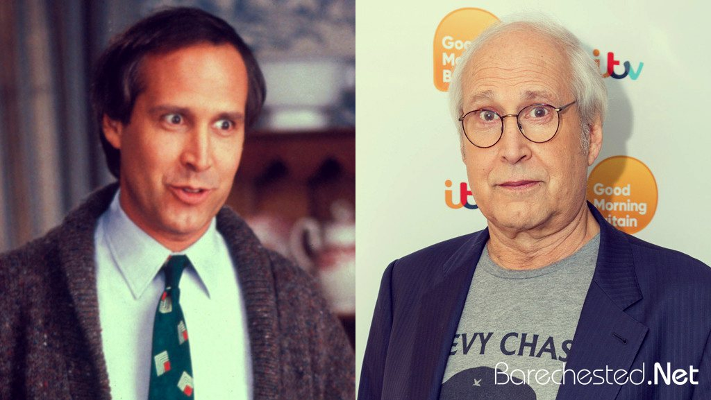Barechested Chevy Chase