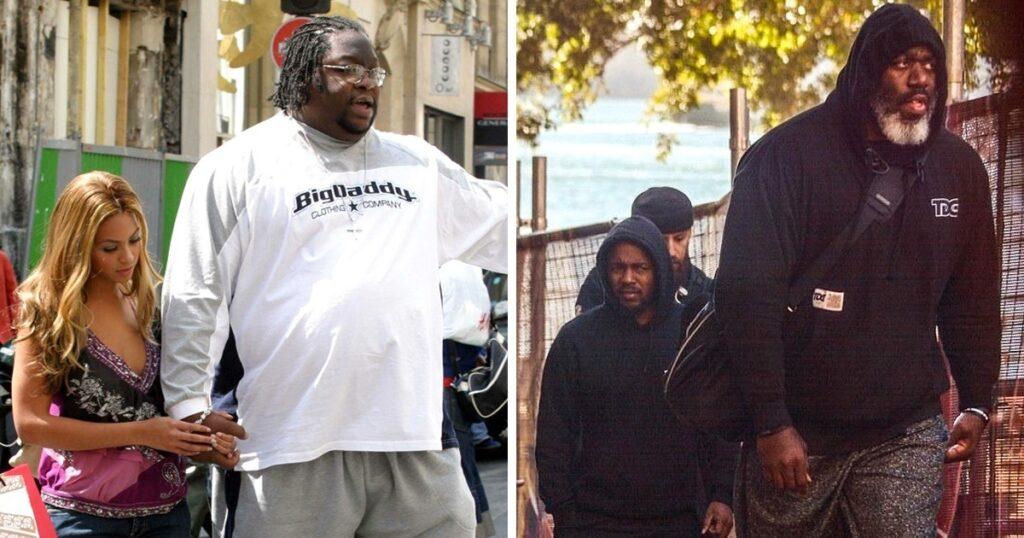 Barechested Kendrick Lamar's Bodyguard