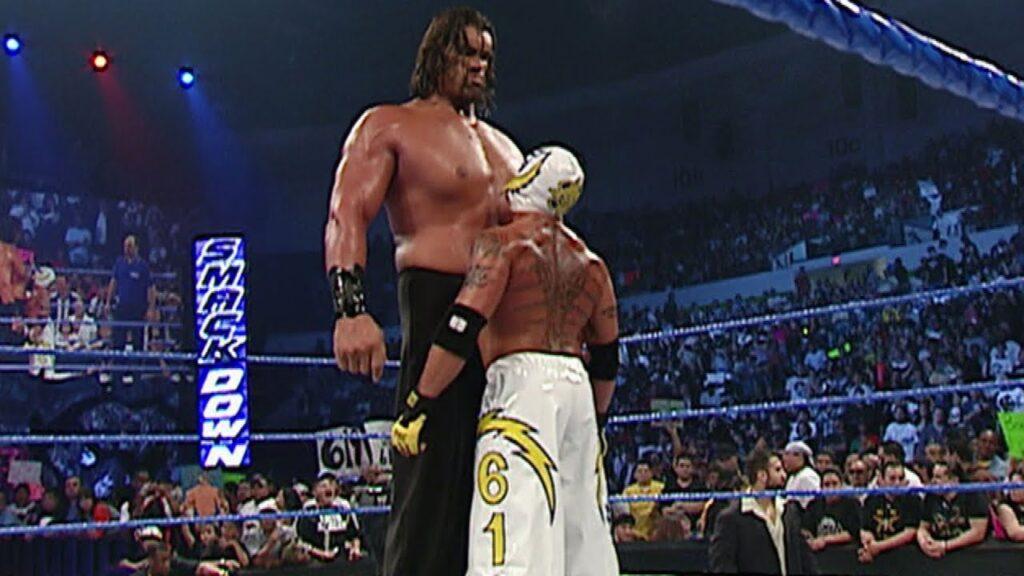 Barechested Rey Mysterio vs The Great Khali