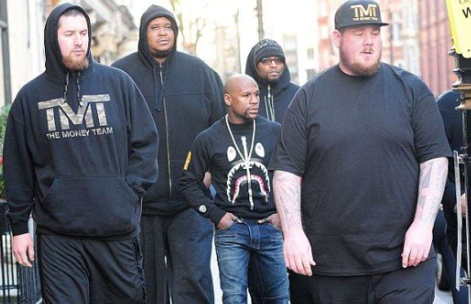 Barechested Floyd Mayweather's Bodyguard