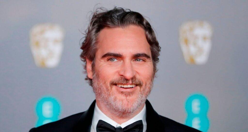 Barechested Joaquin Phoenix