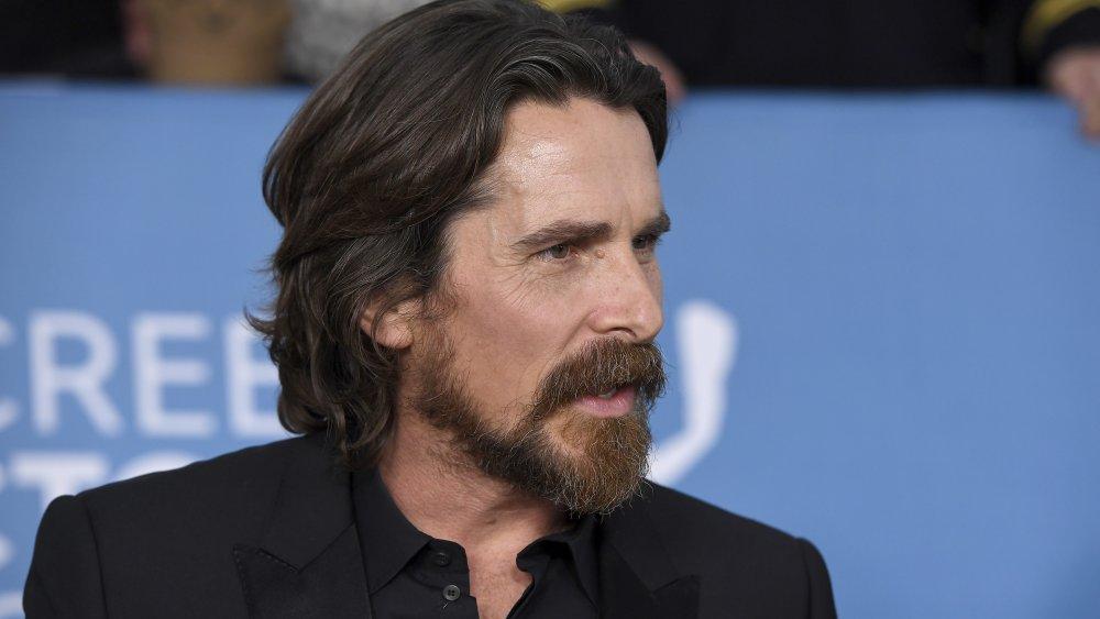 Barechested Christian Bale