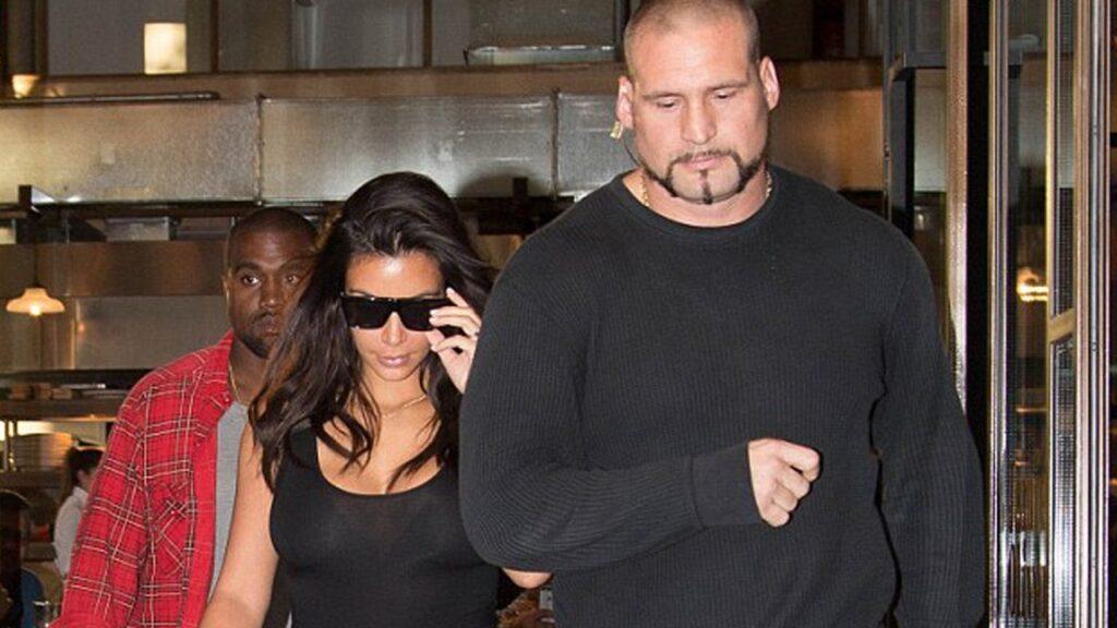 Barechested Kim Kardashian's Bodyguard