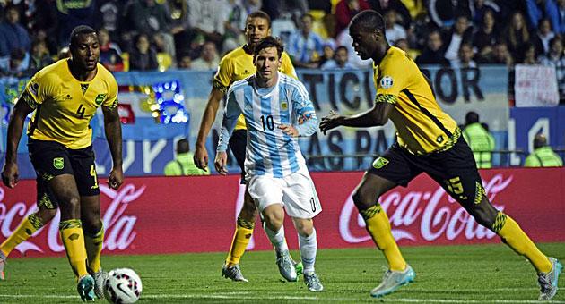 Barechested Argentina vs Jamaica