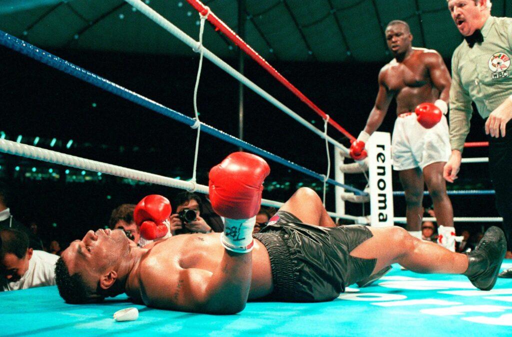 Barechested Mike Tyson vs James Douglas