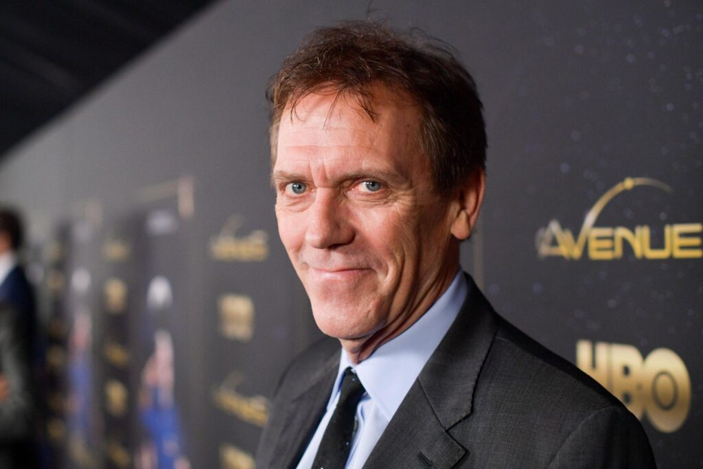 Barechested Hugh Laurie