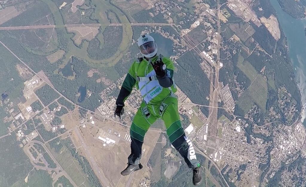 Barechested Luke Aikins Skydiving