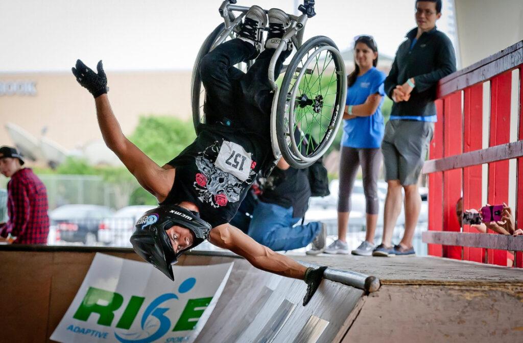 Barechested Extreme Wheelchair Athlete